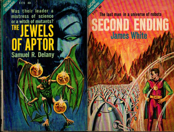 James White, Second Ending (1962) in an ACE Double edition, cover by Jack Gaughan | credit ISFDB.
